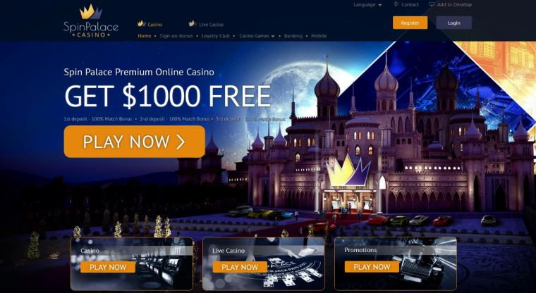 Spin Palace 2020 Online Slot – Best No Deposit online live casino